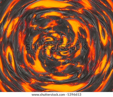 a large background image of hot swirling molten lava