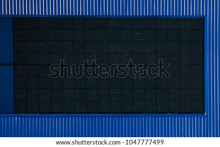A large blank electronic advertisement board  #1047777499