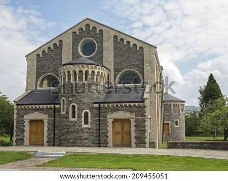 a large church in north ireland - stock photo