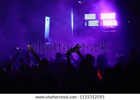 a large concert crowd #1131312593