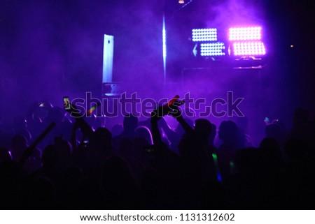 a large concert crowd #1131312602