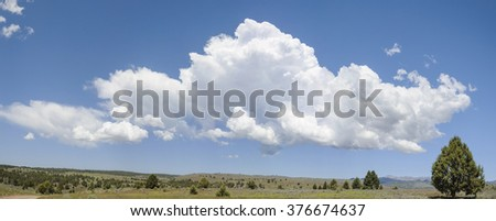 A Large Developing Thunderhead over the High Desert Plateau of Southeastern Oregon