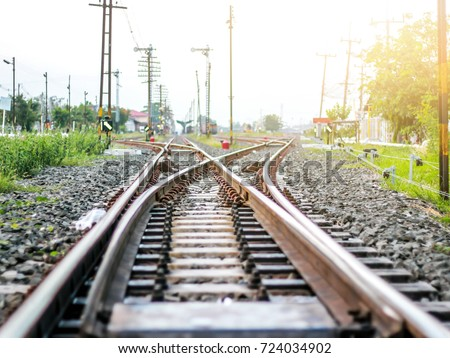 a large empty railroad fork. a...