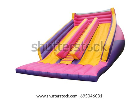 A Large Fun Inflatable Bouncy Castle Slide.