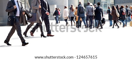 A large group of businessmen. Panorama. A large group of people.