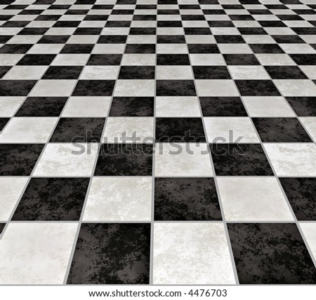 A Large Image Of Black And White Marble Floor Tiles Stock