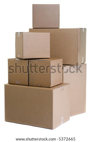 A large pile of moving boxes. One of the dreaded things in life...moving....