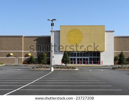 A large retail store which has recently gone out of business.
