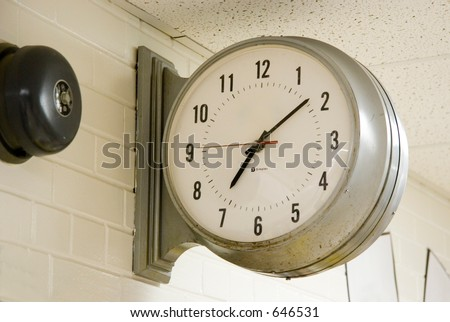 A large school clock