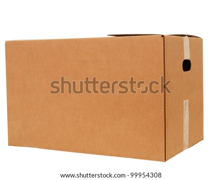 A large size of corrugated box isolated white