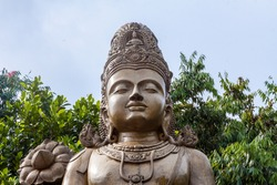 A large statue of Maitreya, the future Buddha, at Kelaniya temple, Sri Lanka