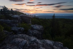 A late Summer, long exposure sunrise at Dolly Sods in West Virginia.