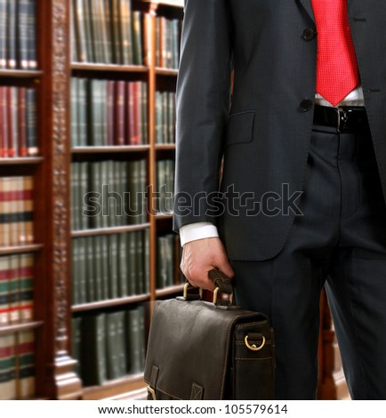 A lawyer in the library - stock photo