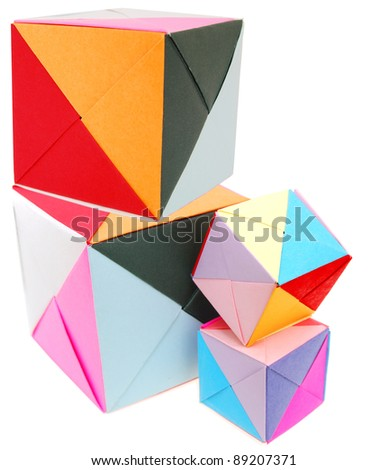 A learning origami blocks