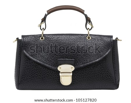 A leather bag isolated against a white background