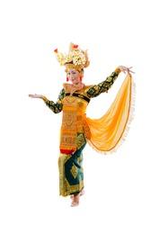 A Legong Dancer holding Scarf