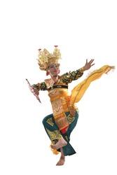 A Legong Dancer throwing a shawl