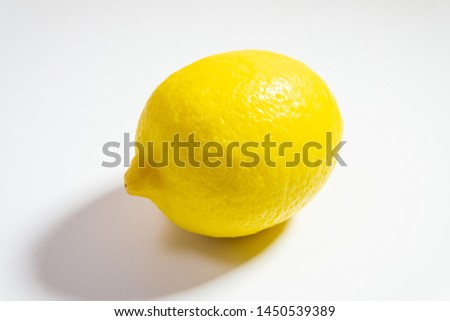 a lemon with a white background #1450539389