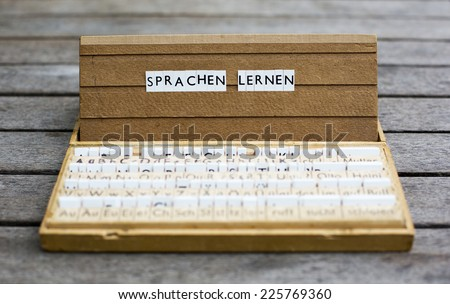 a letter box with the text: \