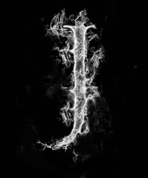 A Letter of smoke alphabet