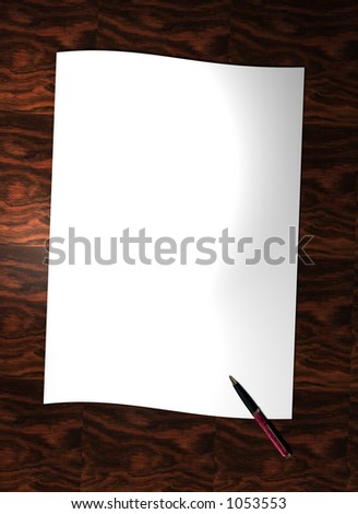 A letter waiting to be written - border/background