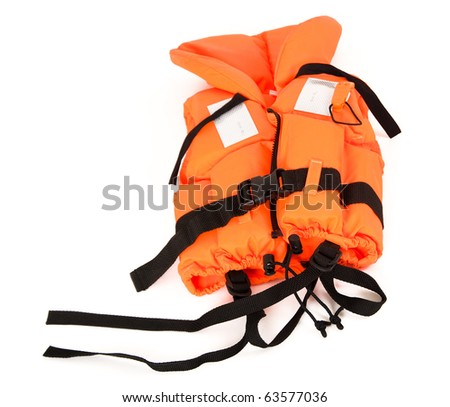 a life-jacket on white background