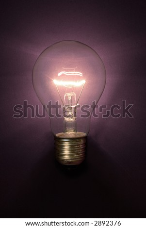A Light bulb glowing without power