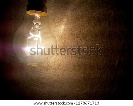 a light glowing bulb ,bulb abstarct image  #1278671713