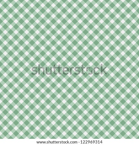 A light green gingham fabric  background that is seamless