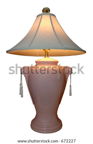 A lighted lamp with tassels. 12MP camera, super isolation.