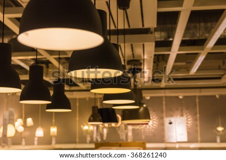 Shutterstock A Lighting lamp with bulbs in home