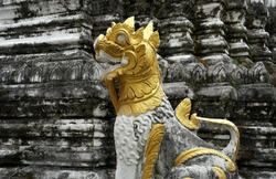 A Lion Temple Guardian in Chiang Mai, Thailand