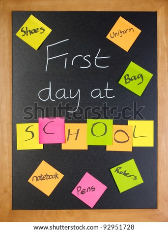A list of all the things a student might need for their first day of school