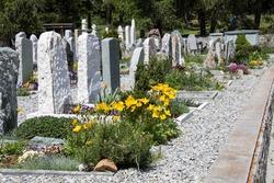 A little alpine cemetery - Switzerland