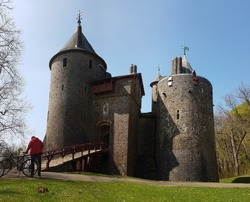 A little bit of cycling at Castle Coch