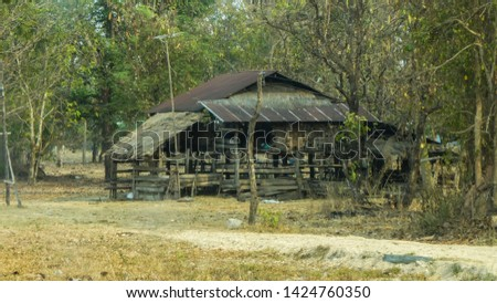 A little cottage in the countryside in the dry countryside of Thailand #1424760350