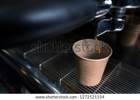 a little drop of coffee