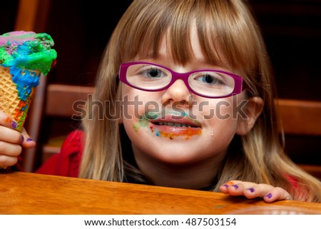 stock-photo-a-little-girl-with-a-messy-a