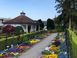 A local cemetery in the Vitznau settlement - Canton of Lucerne, Switzerland