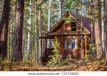 A log cabin in the Russian forest