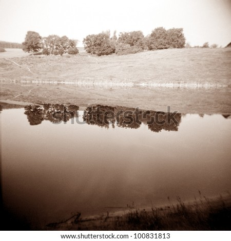 a lomography of a beautiful landscape