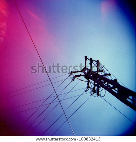 a lomography of a transmission tower Photo stock ©