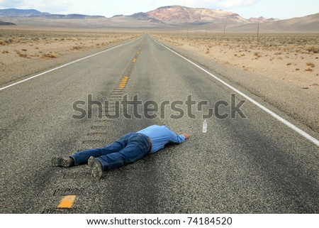 a lone man dies of dehydration in the hot dry desert of Death Valley just inches away from a bottle of water