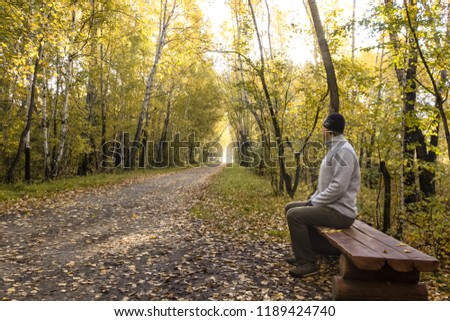 man waiting for someone