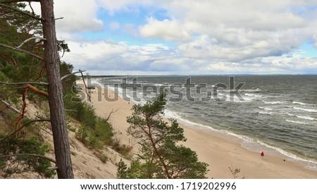 A long beach. Location: Europe, Poland, Wolinski park narodowy, Miedzyzdroje Zdjęcia stock ©