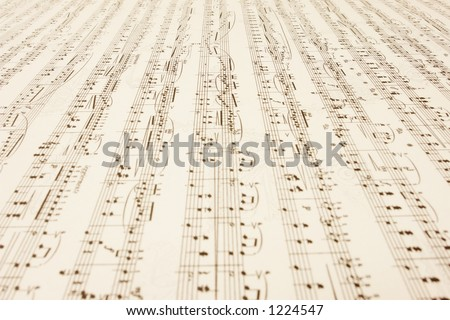 a long endless music-sheet