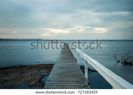 A long jetty in Long Jetty #727183459