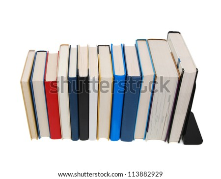 A long knowledge textbook row