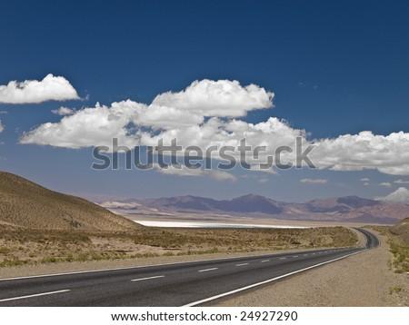 A long road across the desert.