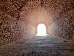 A long tunnel of ancient stones